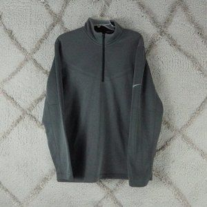 Nike Golf Tour Performance Therma-Fit Black 1/4 Zip Athletic Sweater Mens sz med